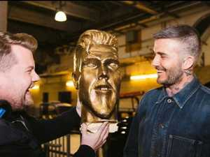 Becks' statue shocker: 'Look at my chin!'