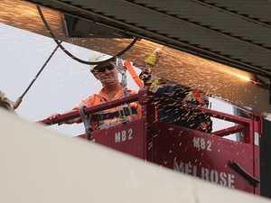 Demolition of Allianz Stadium roof begins