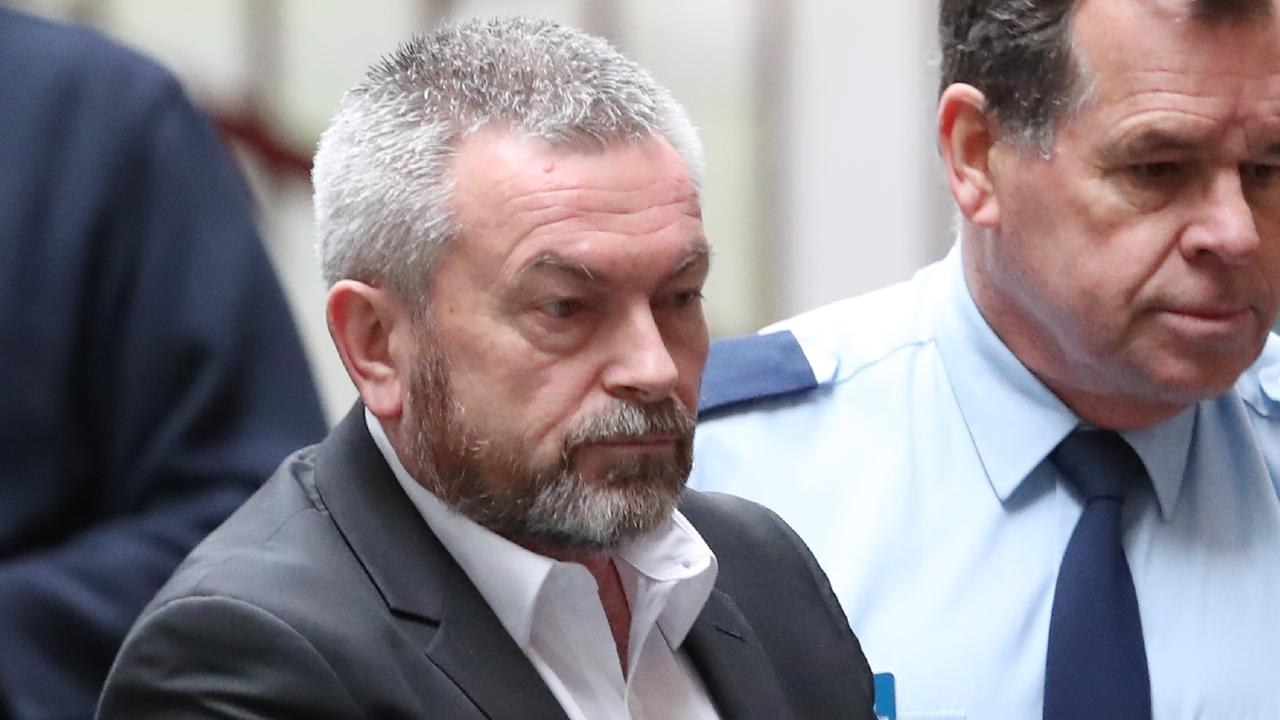 Borce Ristevski arrives from a prison van to the Supreme court in Melbourne. Monday, August 6. 2018. Picture: David Crosling