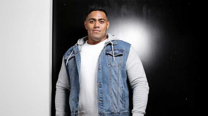 Jordan Mailata was relaxed back in Sydney.