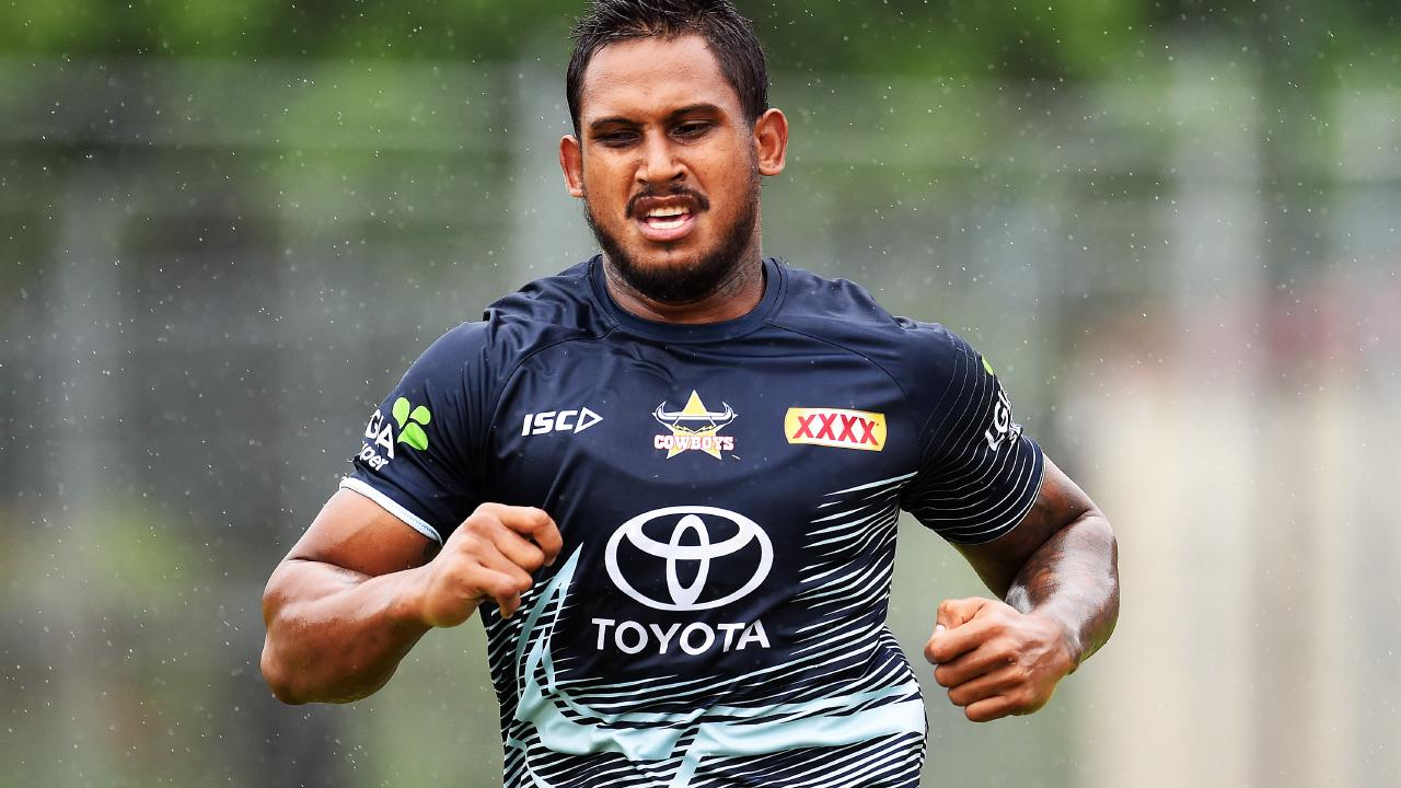 Ben Barba training for the Cowboys before he was fired.