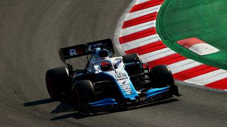 Robert Kubica in his new Williams ahead of the Australian Grand Prix.