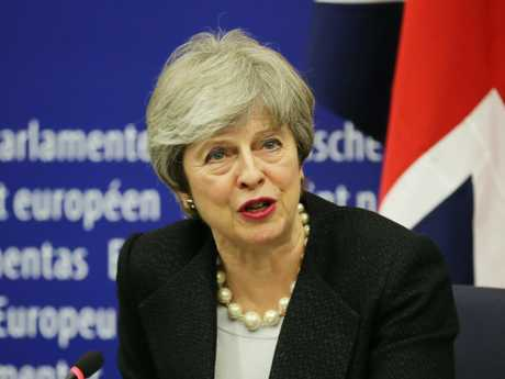 British Prime Minster Theresa May during the latest Brexit deal announcement.