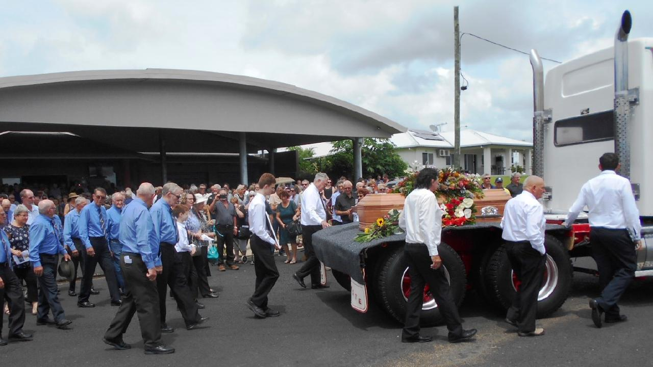 """A large turnout celebrated the life of Edward """"Timber Ted"""" William Herbert. Picture: Supplied"""