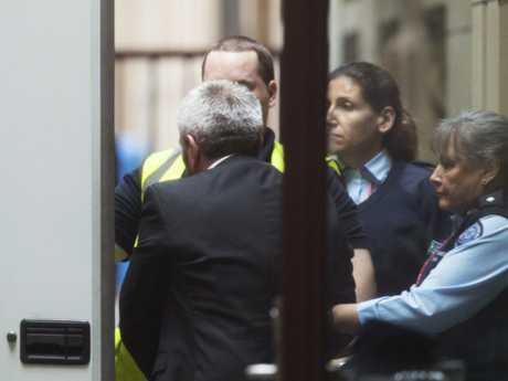 Borce Ristevski leaves the Supreme Court after pleading guilty. Picture: AAP/Daniel Pockett