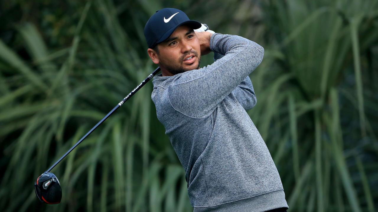 PONTE VEDRA BEACH, FLORIDA — MARCH 12: Jason Day of Australia plays a shot during a practice round prior to The PLAYERS Championship at the TPC Stadium course on March 12, 2019 in Ponte Vedra Beach, Florida. Sam Greenwood/Getty Images/AFP == FOR NEWSPAPERS, INTERNET, TELCOS & TELEVISION USE ONLY ==
