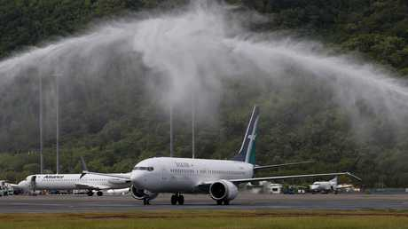 SilkAir grounded its fleet of six Boeing 737 Max 8s earlier on Tuesday. Picture: Stewart McLean