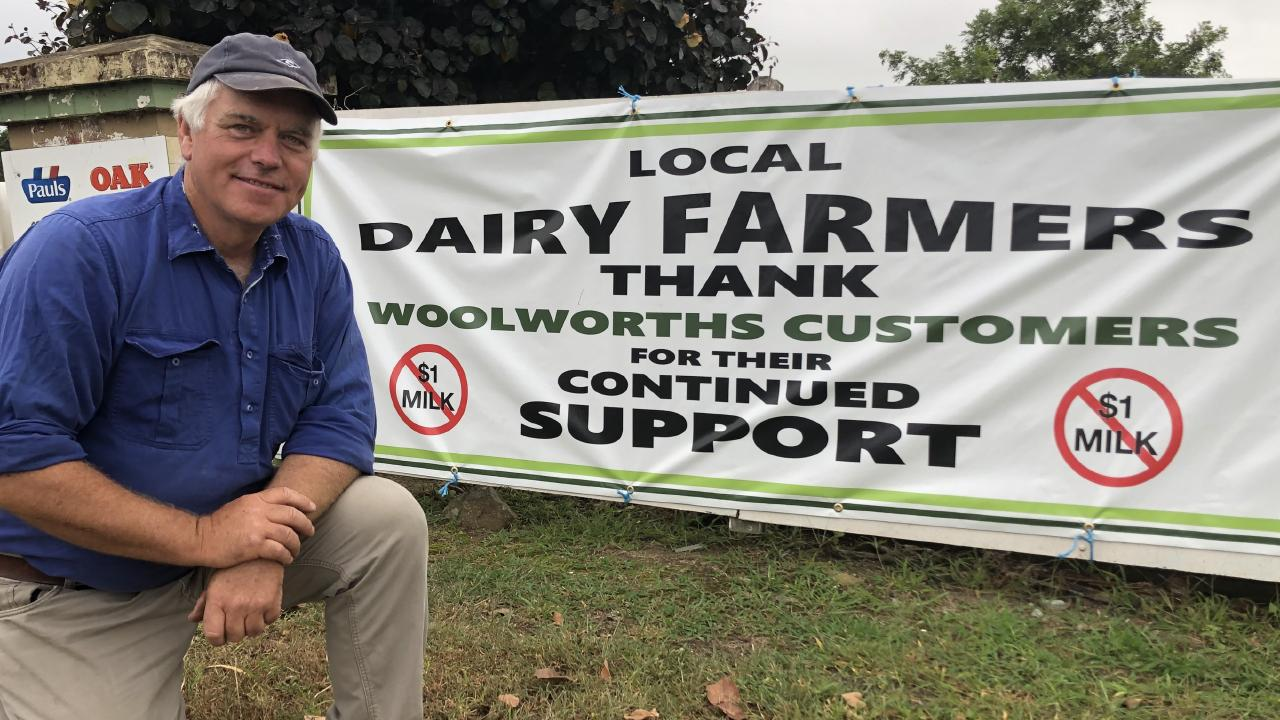 South Coast dairy farmer Rob Miller feels fortunate he supplies a company that is helping him out. Picture: Supplied