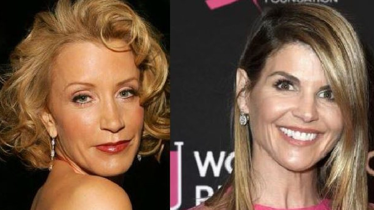 Felicity Huffman and Lori Loughlin have been arrested in connection with a university admission bribery scam. Picture: Supplied