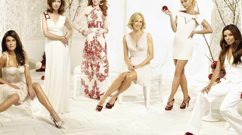 Desperate Housewives stars (L-R) Teri Hatcher, Dana Delany, Marcia Cross, Felicity Huffman, Nicollette Sheridan and Eva Longoria.  Picture:  Supplied