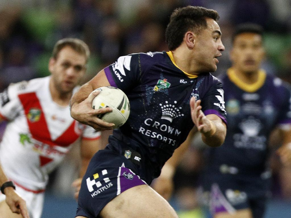Jahrome Hughes of the Storm looks set for a big start to 2019. Picture: AAP Image/Daniel Pockett