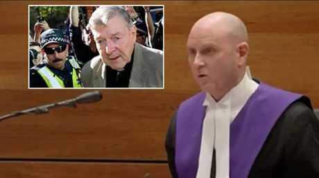 Judge Peter Kidd sentencing George Pell.