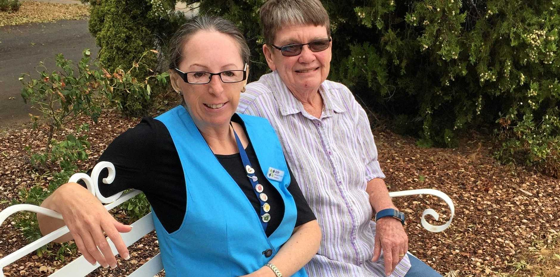 ONE COMMUNITY: Clifton Community Health Service lifestyle co-ordinator Jade Gilchrist and resident representative Anne Kersley.