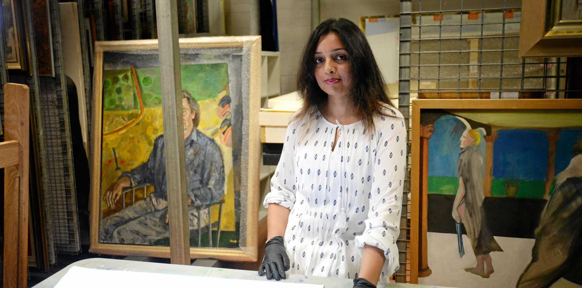 Anitha Menon is one of the six Central Queensland artists to explore works in the Gallerys nationally significant collection.