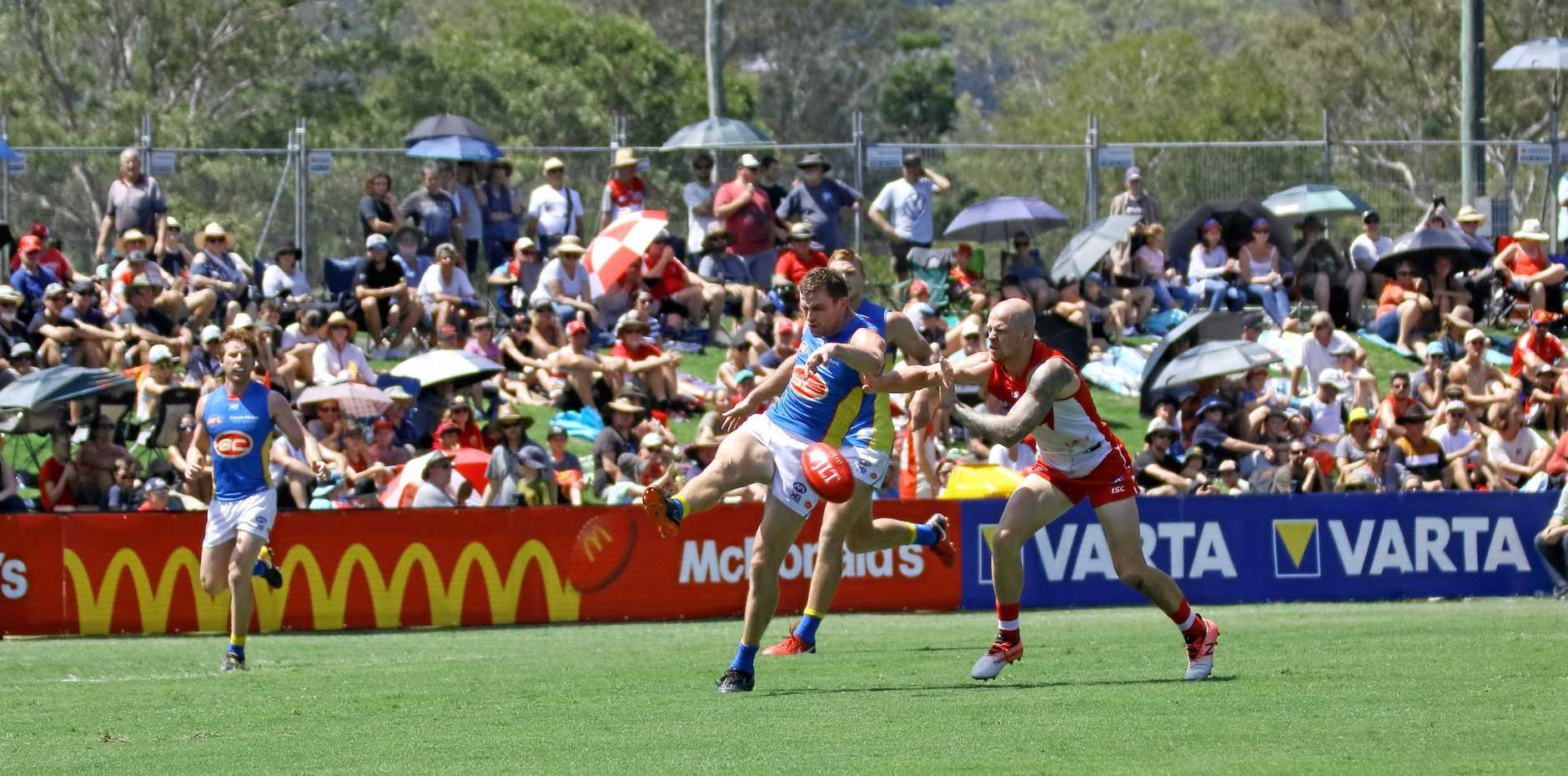 LIFESTYLE: Action from the Gold Coast Suns and Sydney Swans JLT Series preseason game at Oakes Oval, Lismore on Sunday.