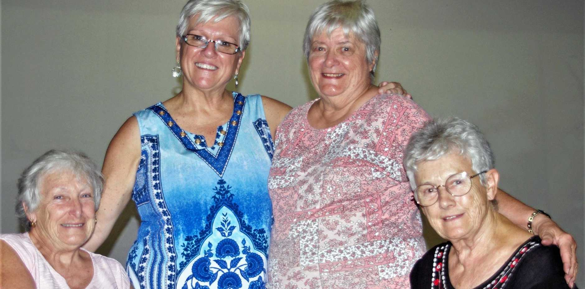 GRANNIES WITH GRUNT: Founding members of the GOP (Grannies Only Party) - Di Meyers, Debra Pitura, Gwen Griffin and Carol Burls.