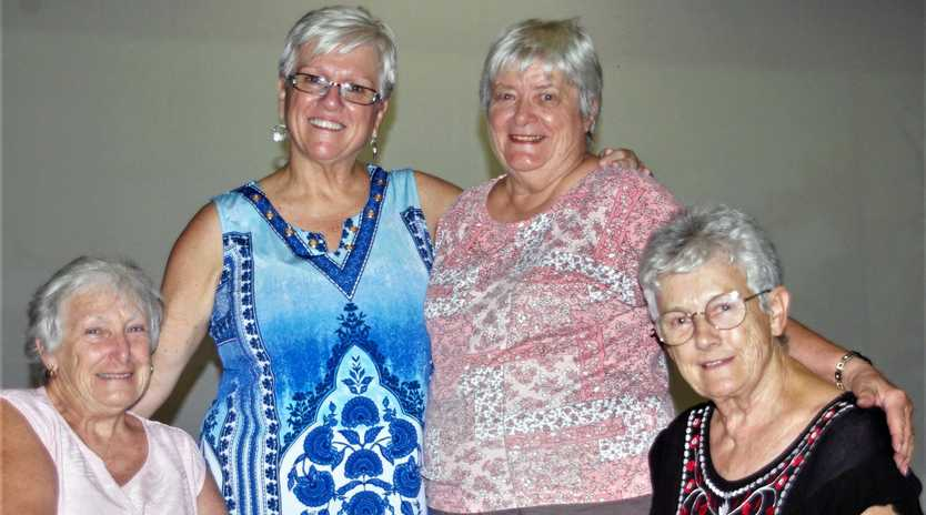 GRANNIES ON A MISSION: Founding members of the GOP (Grannies Only Party) Di Meyers, Debra Pitura, Gwen Griffin and Carol Burls.