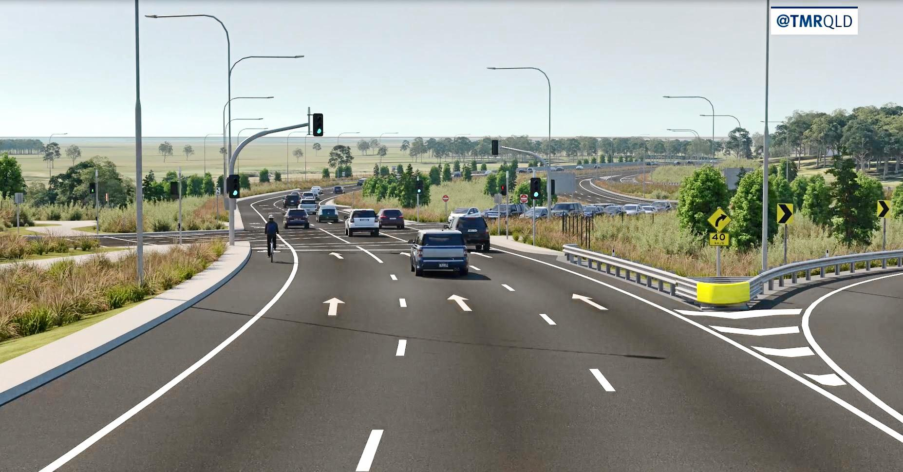Minister for Transport and Main Roads Mark Bailey said the Caloundra Rd to Sunshine Motorway upgrade would improve safety, increase efficiency and reduce congestion on the Bruce Highway.