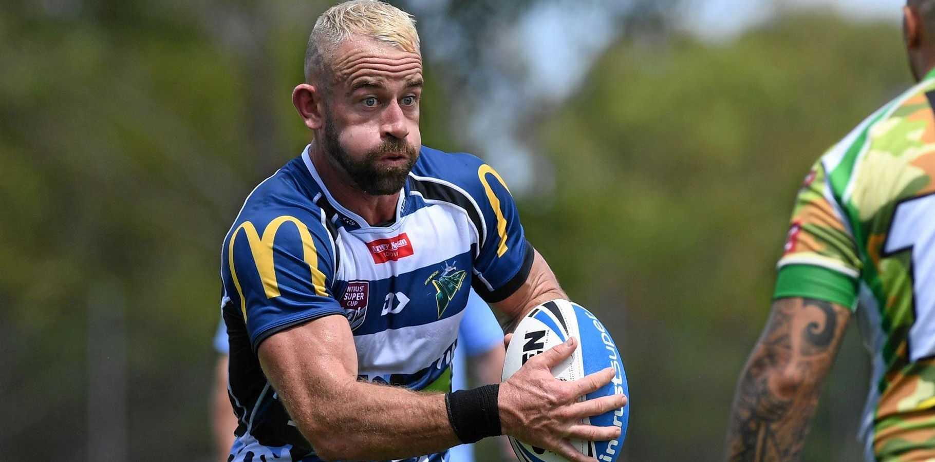 Ben Shea rocks the platinum blonde against Townsville last weekend.