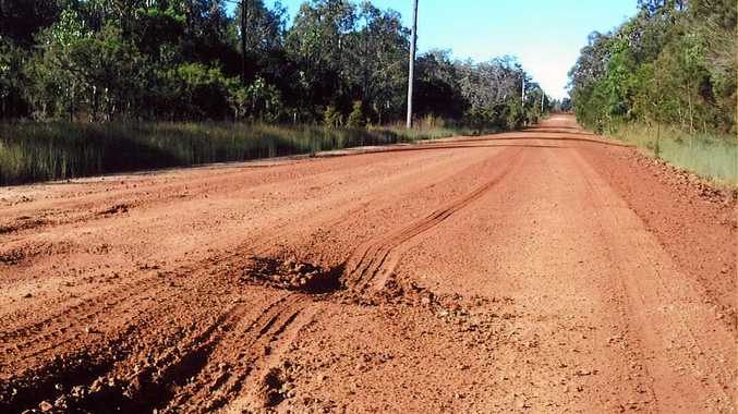 Some Florda Prince residents are driving through the bush rather than risk a drive on dangerous roads.
