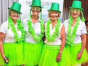 Irish eyes smile on the green