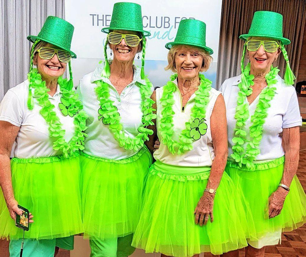 LUCK OF THE IRISH: Lismore Workers Lady Golfers took to the fairways in their finest attire to celebrate St Patrick's Day. L-R Lorraine, Helen, Venka and Jan showed their loyalty to the event after a round.
