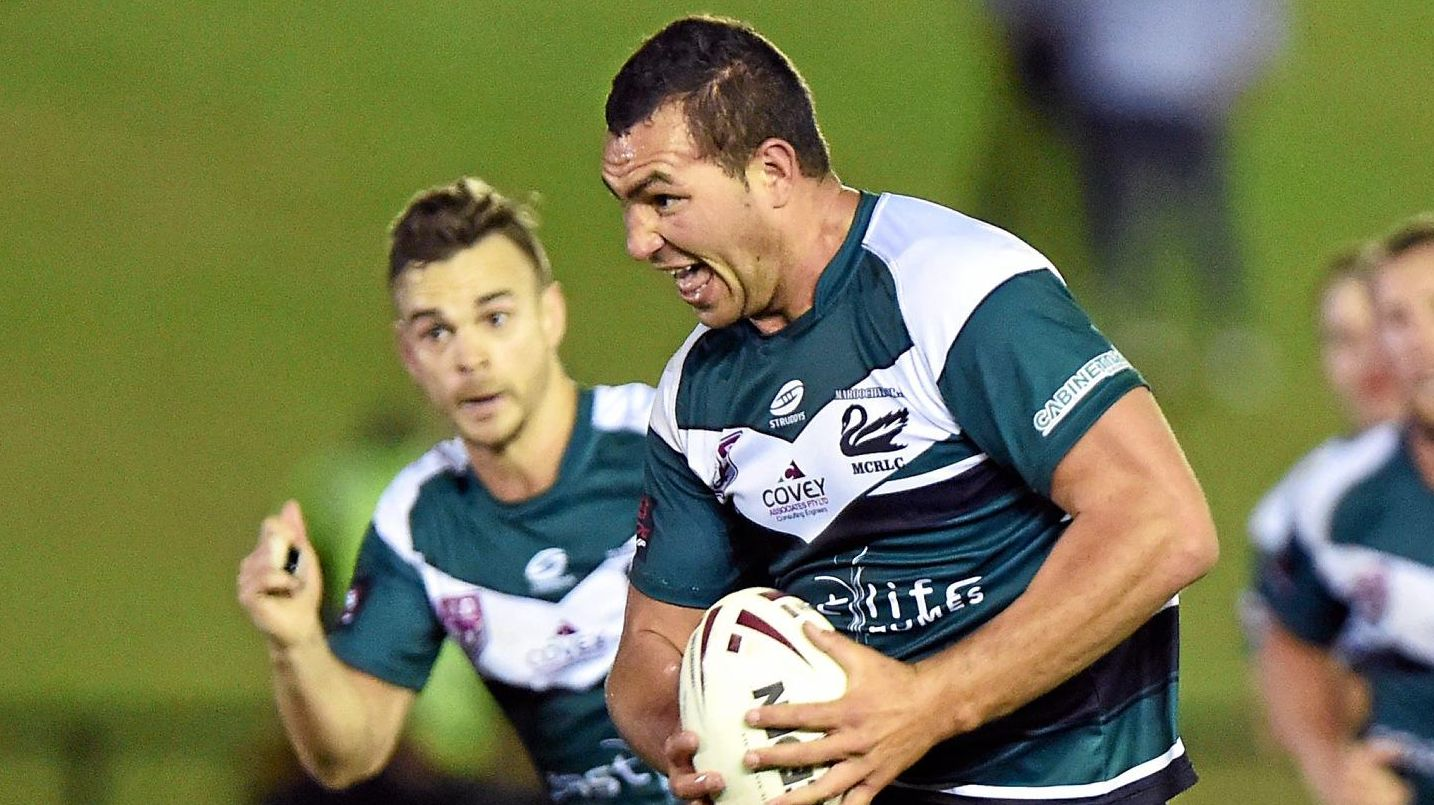 ON THE CHARGE: Maroochydore's Leon Taylor.