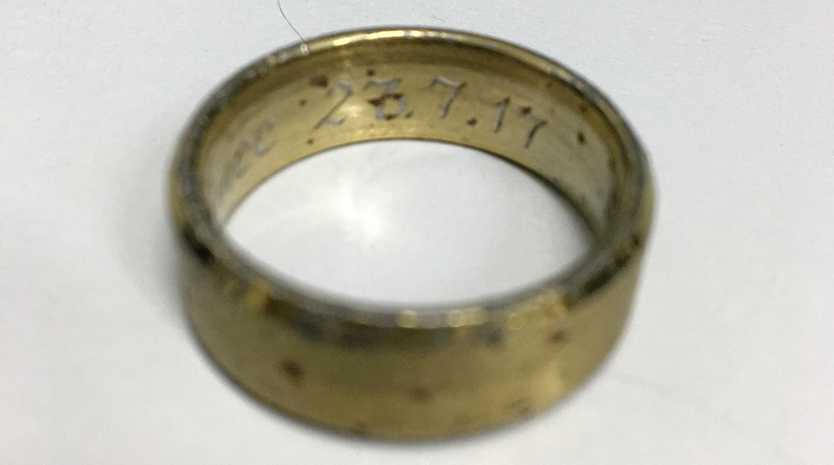 A lost ring waits at the Gatton Police Station for its owner.