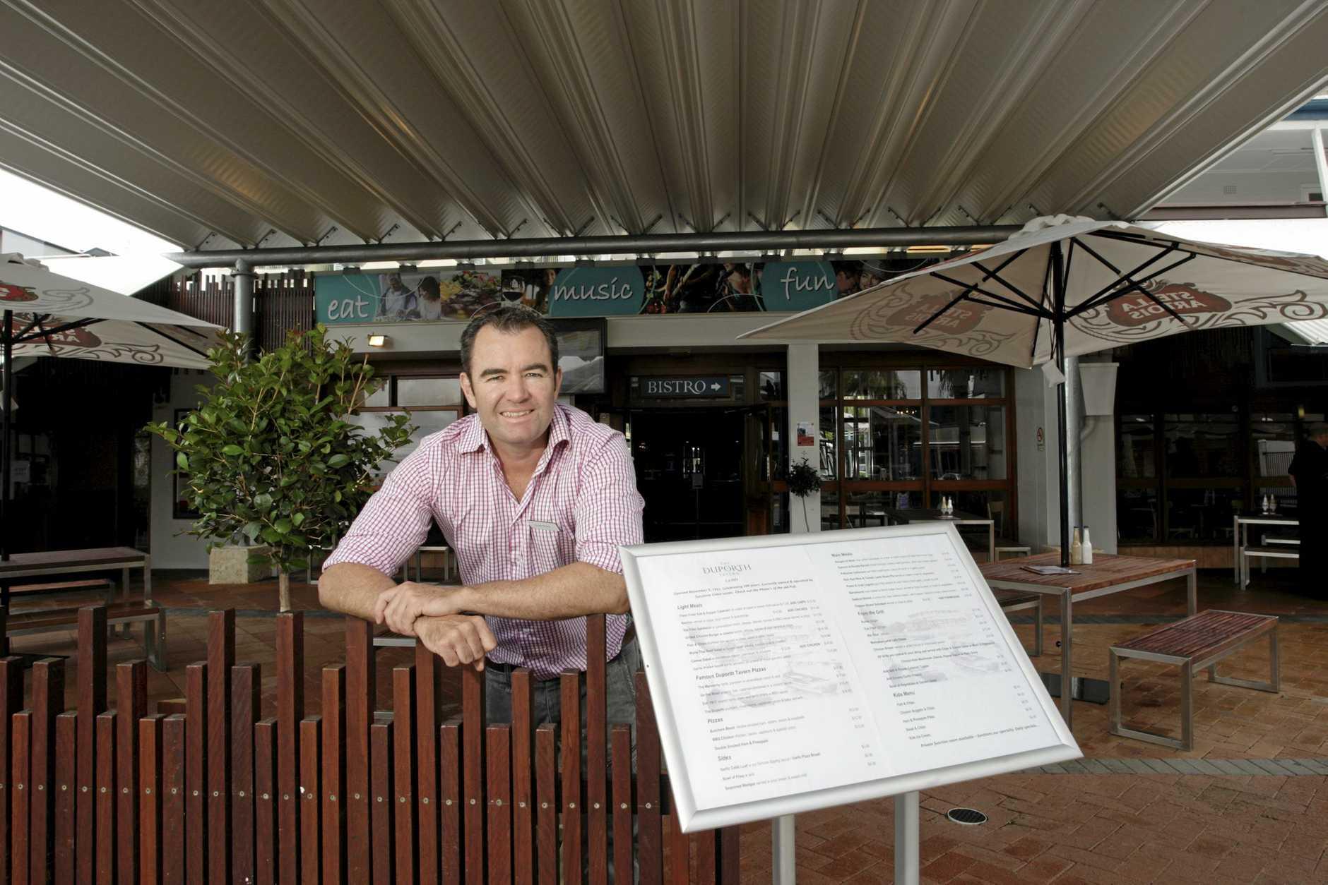 Duporth Tavern is celebrating 100 years. Publican, Clayton Williams. Photo: Cade Mooney / Sunshine Coast Daily