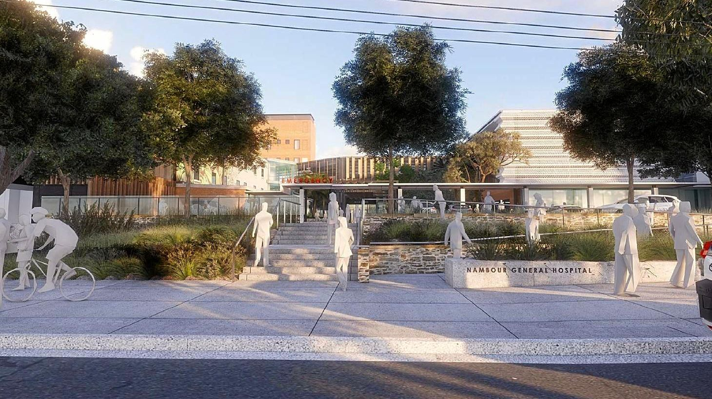 SERVICES UPGRADE: The final designs are being completed before the Nambour Hospital redevelopment begins in the third quarter of 2019. Pictured is an artist's render from Hospital Rd.