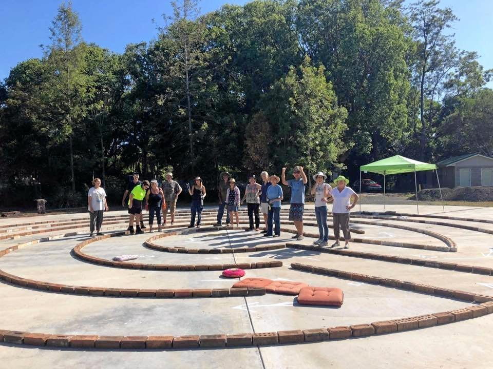 VALUABLE PROJECT: Friends of Labyrinth, with the help from Kyogle Council have finished the base of the project, which is set to open within three months.