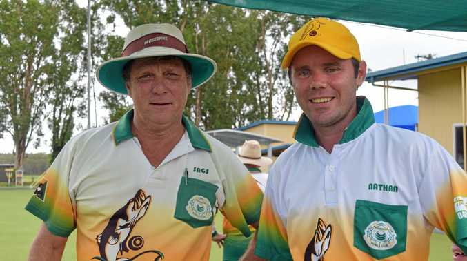 PAIRS CHAMPIONS: Barry Saroglia and Nathan Harriott will progress to the Champion of Champions after winning the Proserpine Bowls Club Men's Championship Pairs on Sunday morning.