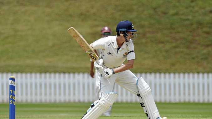 Morgan Galvin batting for Toowoomba Grammar School.