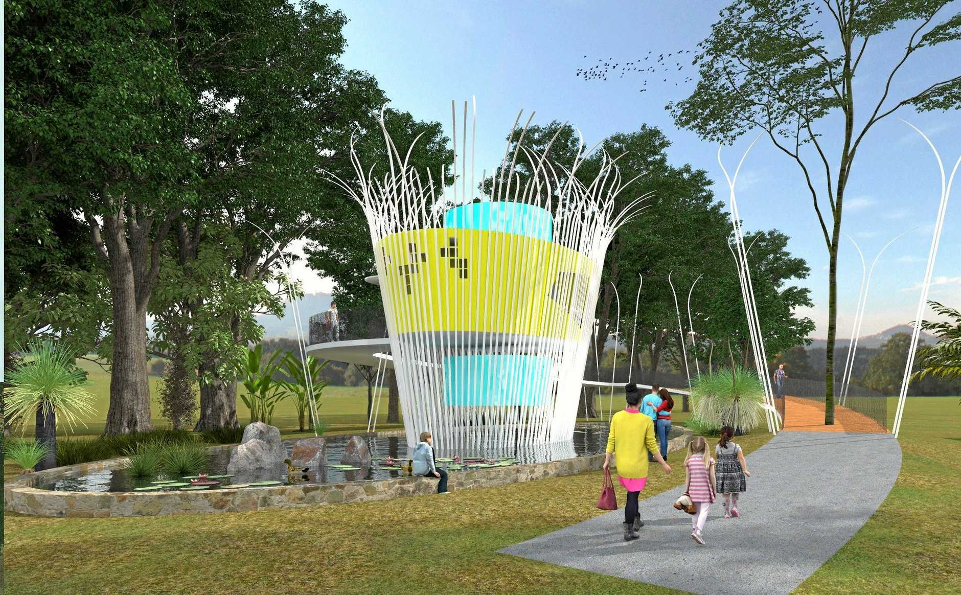 WORK SET TO BEGIN: Michael Lennie's winning entry in the Kenilworth Designer Dunny competition.