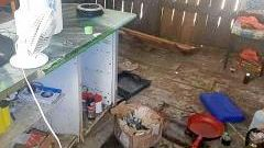 DIRTY KITCHEN: Bundaberg police found an active drug lab at an Electra St home yesterday.