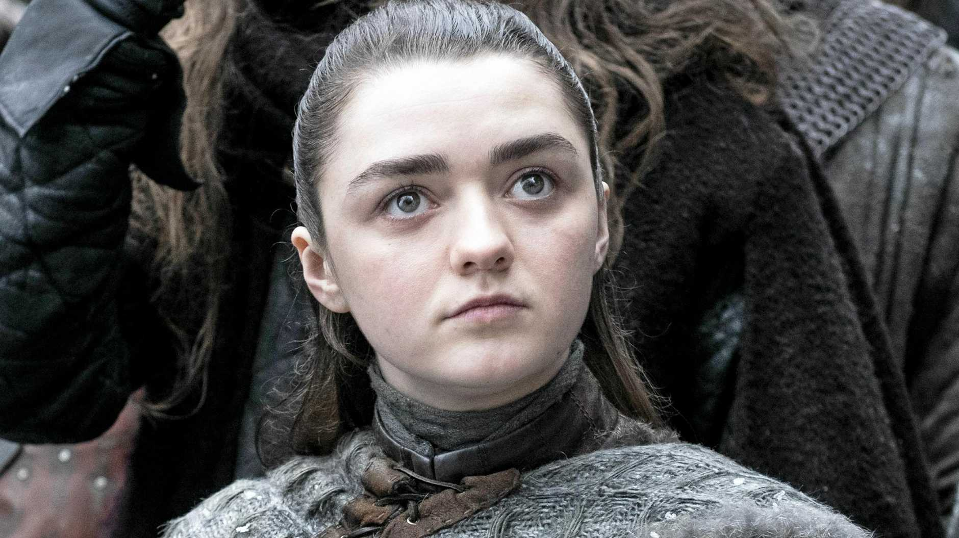 Maisie Williams as Arya Stark.
