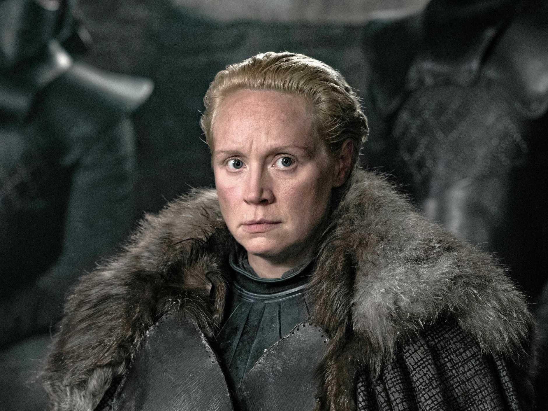 Gwendoline Christie as Brienne of Tarth.