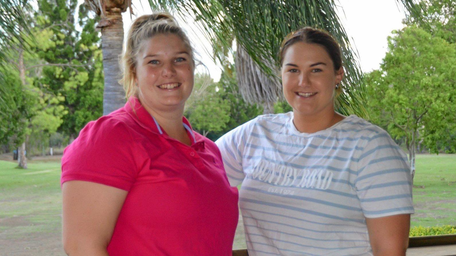 SIBLING RIVALRY: Sisters Allie and Molly Emmerton are both in the running for Gayndah Orange Festival's Queen title.