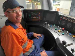Final B-Series train heading from Maryborough to Perth