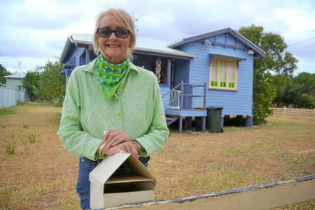 TAKING PRECAUTIONS: Chinchilla woman, Yvonne Thrupp has taken police advice to padlock her mailbox and receive all packages at the post office in person after someone stole her dog's epilepsy medication out of her mailbox.