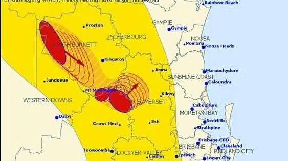 The Bureau of Meteorology are monitoring a severe thunderstorm lurking around Kingaroy that could the Sunshine Coast later today.