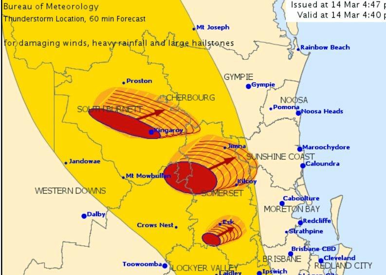 A severe storm warning has been released for southeast Queensland.