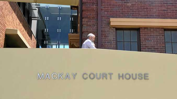 William Leckie outside Mackay Courthouse.