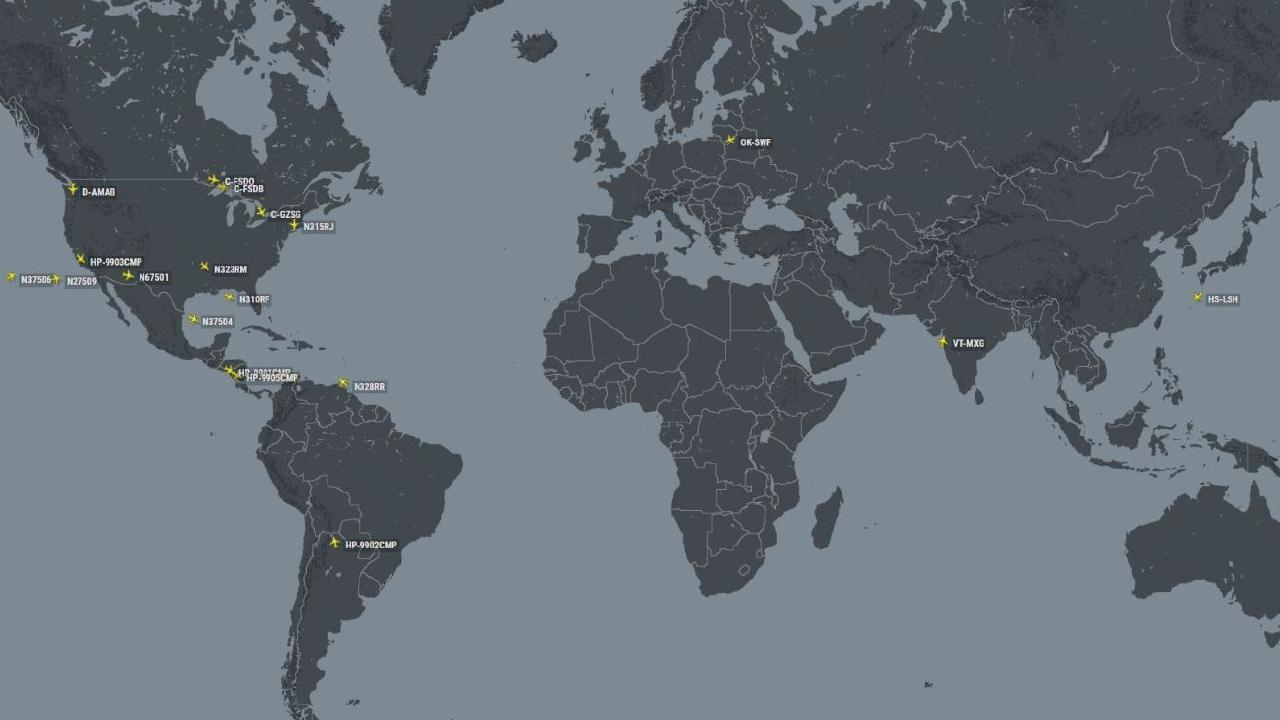 This Flight Radar map released on Thursday shows how few MAX 8 planes are currently in use before landing and being grounded around the world.