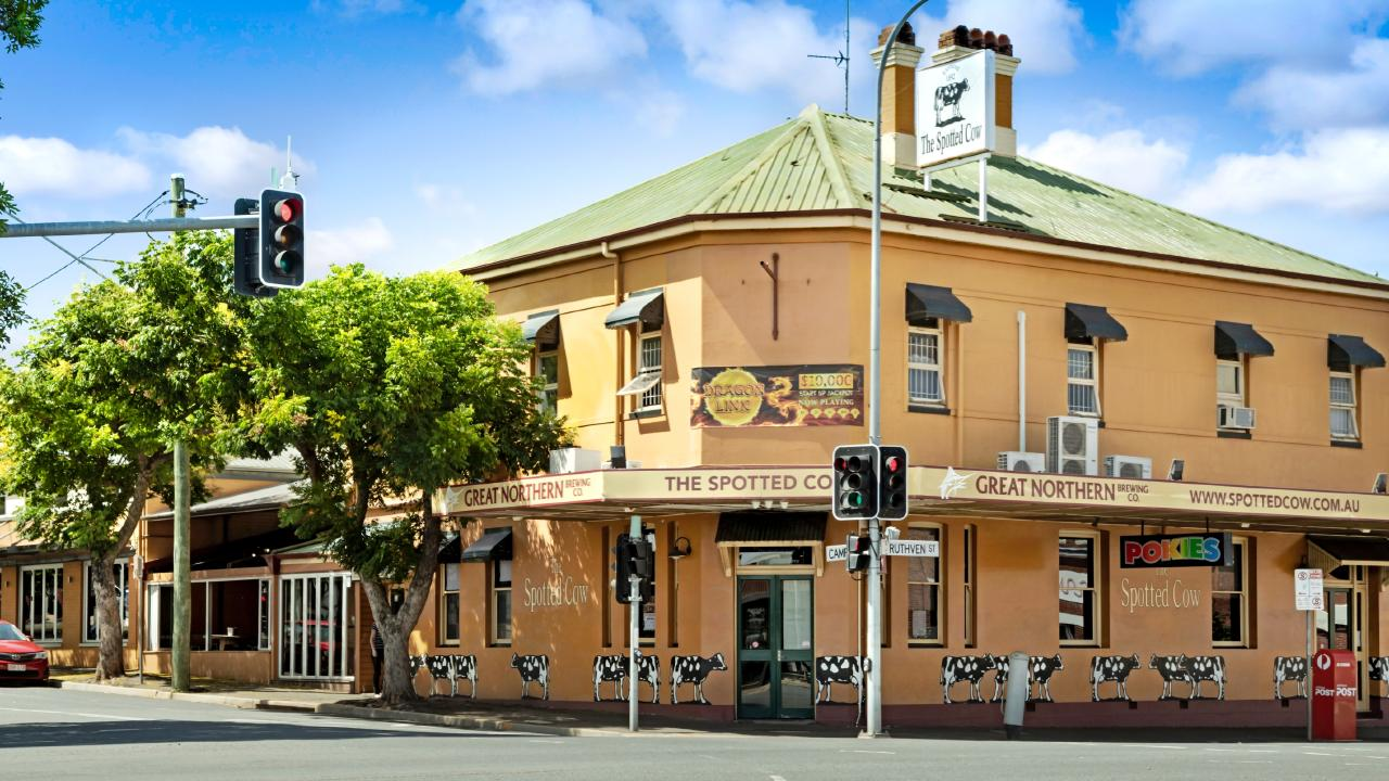 The Spotted Cow at 296 Ruthven St, Toowoomba City.