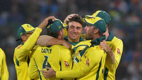 Australian cricketers can't get enough of Marcus Stoinis.
