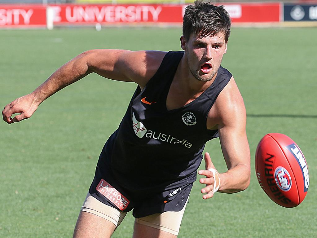 Former Swan Nic Newman at Carlton training. Picture: Ian Currie