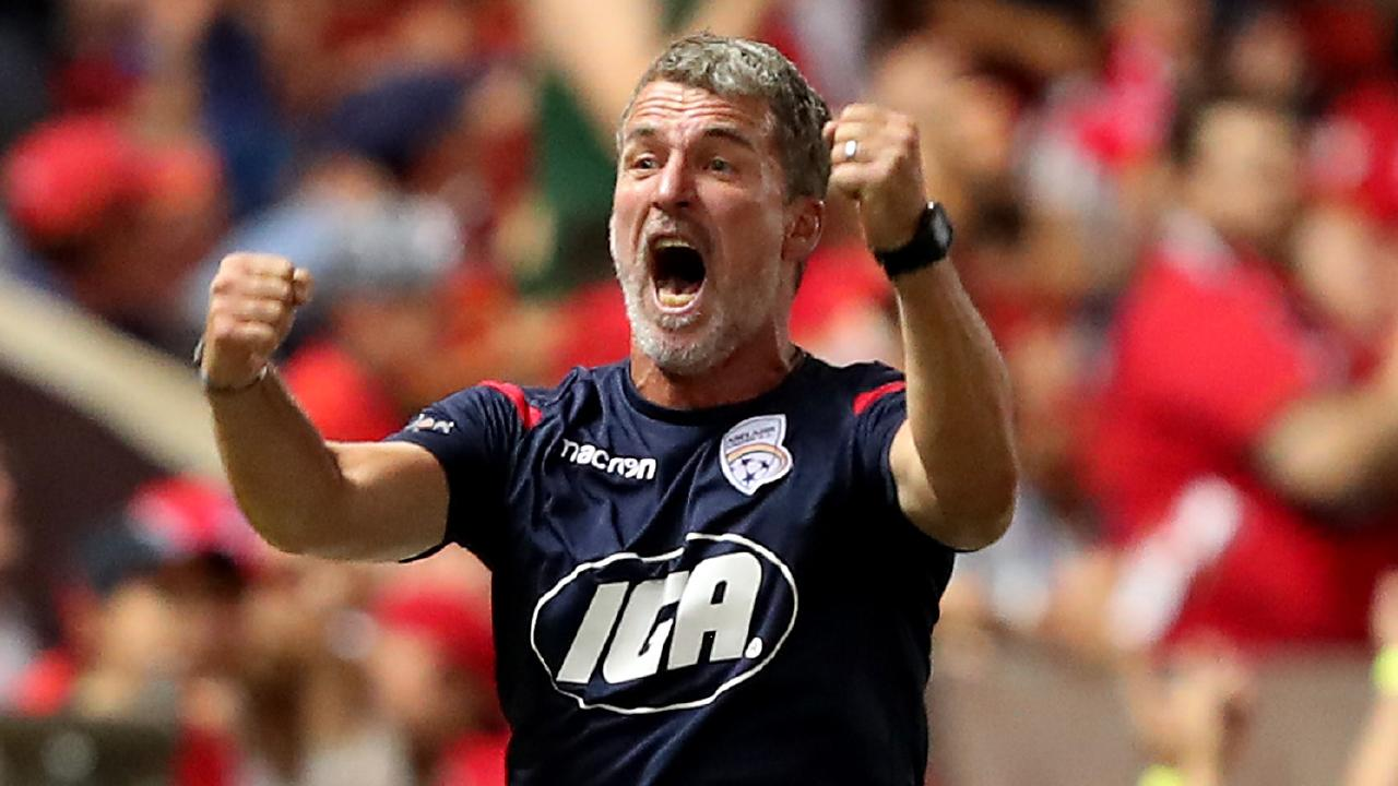 Brisbane Roar are interested in Adelaide United coach Marco Kurz. Picture: Getty Images