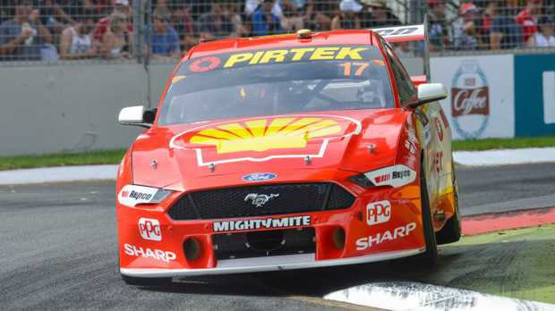 Ford Mustang driver Scott McLaughlin set the pace in practice at Albert Park.