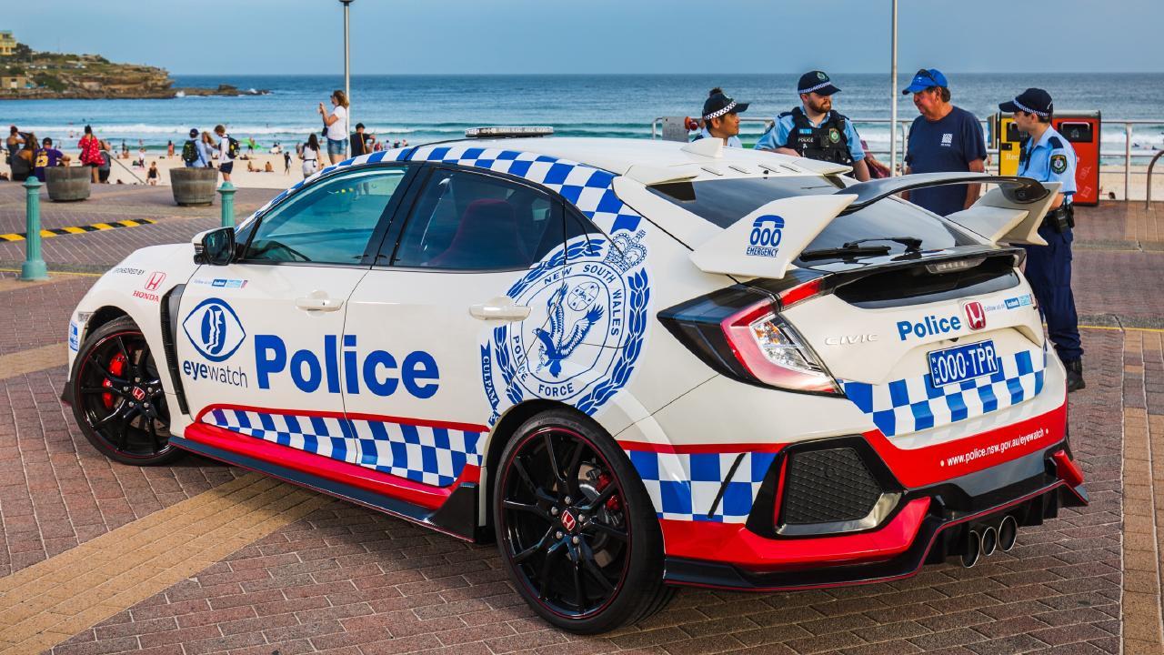 NSW Police Honda Civic Type R.